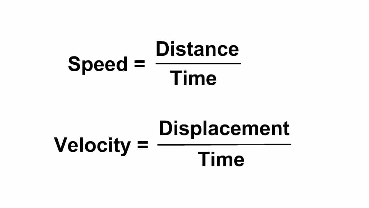 Calculating Scalar Speed and Vector Velocity