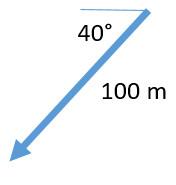 100 m 40 degrees