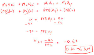 Conservation of Momentum Quiz Solution 2