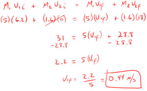 Conservation of Momentum Quiz Solution 3