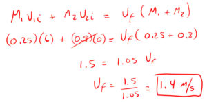 Conservation of Momentum Quiz Solution 4