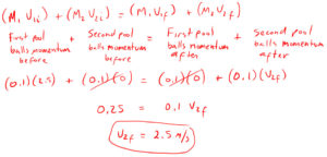 Conservation of Momentum Example 4