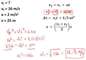 what is the initial velocity work