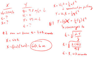 Horizontal Projectile Motion Problem 1