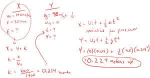 Horizontal Projectile Motion Problem 3