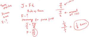 Example 4 Impulse and Momentum