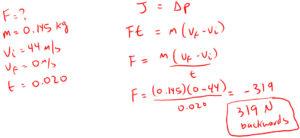 Example 5 Impulse and Momentum
