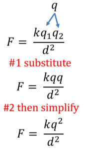 Coulomb's Law When Both Charges Are The Same