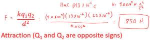 Electrostatics Example Problem 2