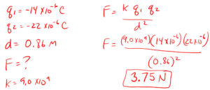 Coulombs Law Example