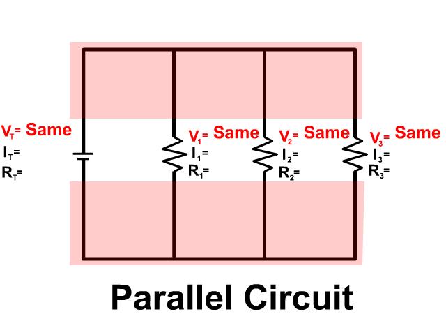Voltage Drop In A Parallel Circuit