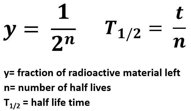 Half-Life Equations
